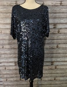 Gorgeous blue sequined dress by Cache
